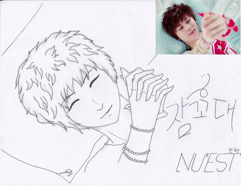 MinHyun Nu'est (my drawing)